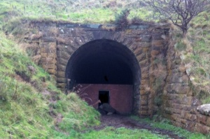 Kettleness rail tunnel on the old Whitby to Middlesborough line