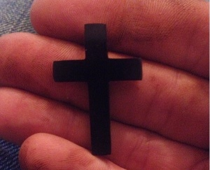 Unfinished Whitby Jet cross