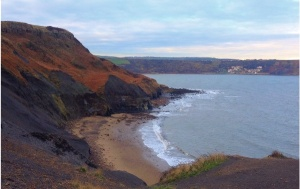 A lovely view of Kettleness beach